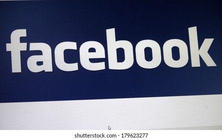 "JANUARY 27, 2014 - BERLIN: the logo of the brand ""Facebook""."
