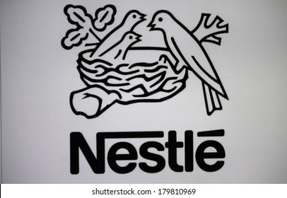 "JANUARY 27, 2014 - BERLIN: the logo of the brand ""Nestle""."