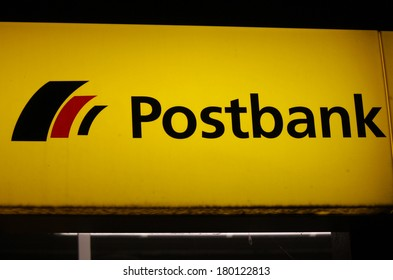 "JANUARY 27, 2014 - BERLIN: the logo of the brand ""Postbank"", Berlin."