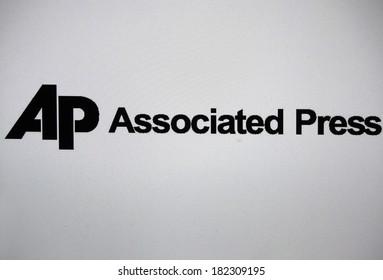 "JANUARY 27, 2014 - BERLIN: the logo of the brand ""AP Associated Press""."