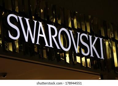 "JANUARY 28, 2014 - BERLIN: the logo of the brand ""Swarovski"", Berlin."