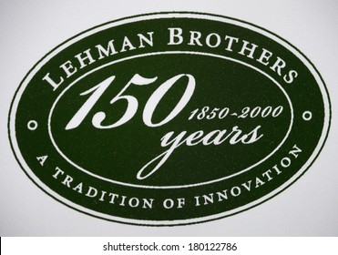 "JANUARY 28, 2014 - BERLIN: the logo of the investment bank ""Lehman Brothers""."