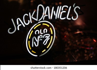 "JANUARY 28, 2014 - BERLIN: the logo of the brand ""Jack Daniels"", Berlin."