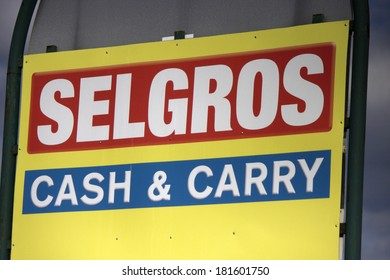"JANUARY 28, 2014 - BERLIN: the logo of the brand ""Selgros"", Berlin."