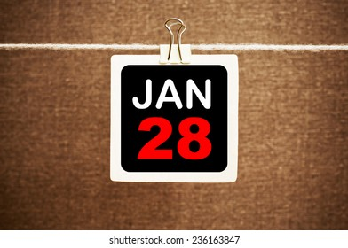 January 28 Calendar. Part of a set