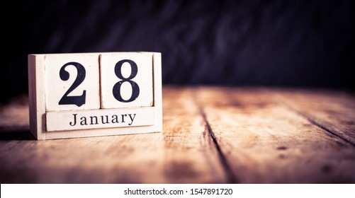 January 28th, 28 January, Twenty Eighth of January, calendar month - date or anniversary or birthday