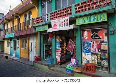 January 3, 2015 San Pedro la Laguna, Guatemala: typical small store front in the indigenous town on the shore of Lake Atitlan