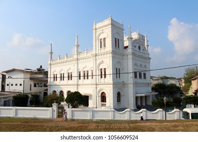 January 3, 2018, Jumma Masjid Mosque in Galle, Sri Lanka. Popular touristic asian destination. Galle city view