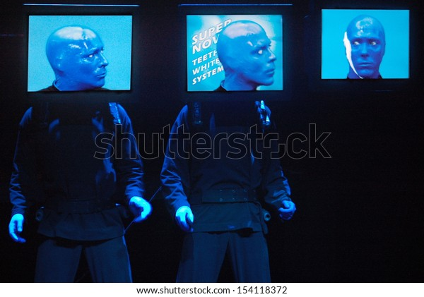 "JANUARY 30, 2007 - BERLIN: the Blue Man Group - presentation of the new show of the ""Blue Man Group"" in the ""Bluemax-Theater"", Berlin."