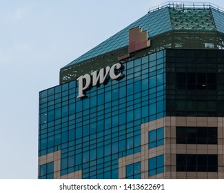 January 30, 2018 - Singapore. Offices of PWC-Price Waterhouse Coopers at Marina One in Singapore.