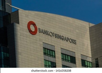 January 30, 2018 - Singapore. Offices of the Bank of Singapore. It is the private banking branch of OCBC Bank and was formerly the ING Asia Private Banking unit.