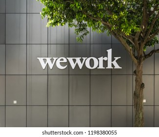 January 30, 2018 - Singapore.WeWork offices in Beach Centre Singapore.