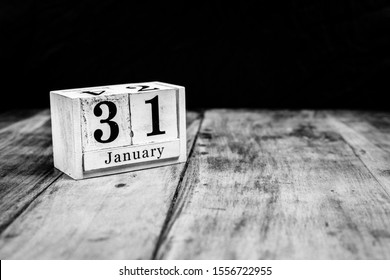 January 31st, 31 January, Thirty First of January, calendar month - date or anniversary or birthday