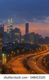 January 3rd 2017, Kuala Lumpur Malaysia : Beautiful view of Kuala Lumpur city at sunset