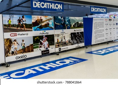 January 5, 2018 - Chiang Mai Thailand. The newly opened Decathlon shop in Chiang Mai.
