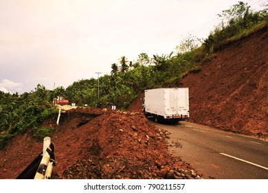 January 6, 2018 9:00 am at the mountain road of southern Leyte Samar Landslide