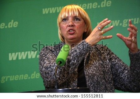 JANUARY 7, 2008 - BERLIN: Claudia Roth at a press conference of the Green Party in Berlin.