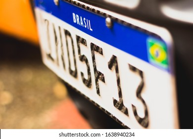 January 7, 2020, Brazil. In this photo illustration the new Mercosur license plate for vehicles in Brazil.