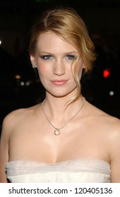 """January Jones  at the premiere of """"We Are Marshall"""". Grauman's Chinese Theatre, Hollywood, CA. 12-14-06"""