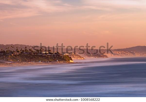 January sunset in Solana Beach
