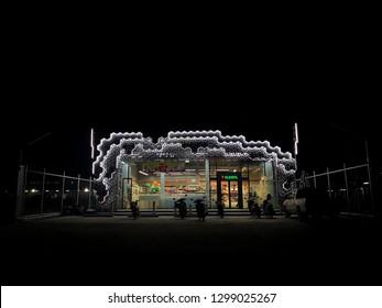 January , 2019 : Unidentified people is buying goods at 7-Eleven stroreA modern 7-Eleven at klong 13 lumlukka phathum thani Thailand.