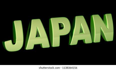 Japan. 3D Illustration.
