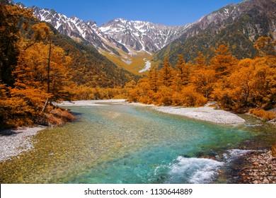 Japan Alps kamikochi in autumn
