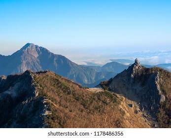 japan alps mt.kaikomagatake and mt.jizo