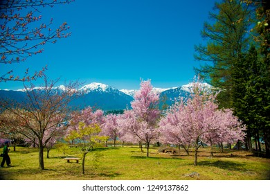 Japan Alps from Nagano side in Japan. Japan Alps is located between Nagano and Toyama prefectures.