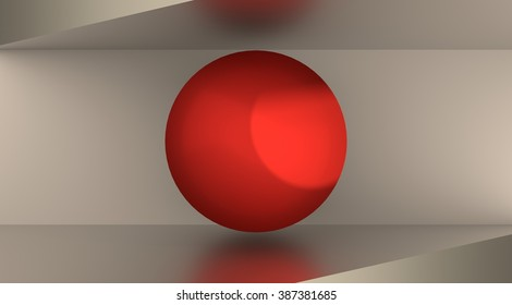 Japan flag design concept. 3d shapes. Image relative to travel and politic themes