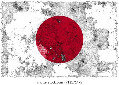 Japan flag grunge background. Background for design in country flag