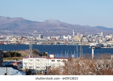 Japan Hakodate bay area. Hakodate was Japan's first city whose port was opened to foreign trade in 1854 as a result of Convention of Kanagawa, and used to be the most important port in northern Japan.