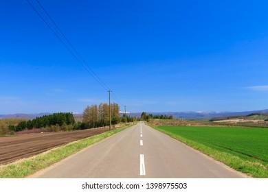 japan hokkaido Road of superb view