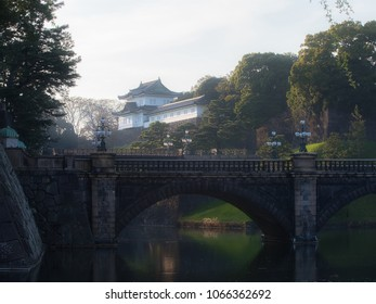 Japan Imperial Palace in the evening.