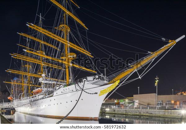 2017.02.17?Yokohama Japan  Japanese museum ship Nippon Maru