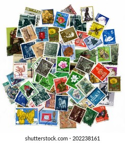 Japan and Korea - CIRCA 1960-1980: a collection of postage stamps printed in Japan and Korea on various topics, about 1960-1980.