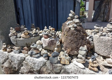 Japan Kyoto stacked stone