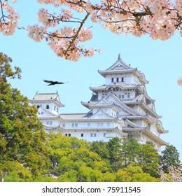 Japan landmark: the Himeji castle, an UNESCO world heritage site