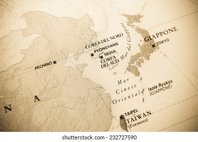 Japan map geographical view altered on stock photo royalty free japan map geographical view altered on colorsperspective and focus on the edge gumiabroncs Gallery