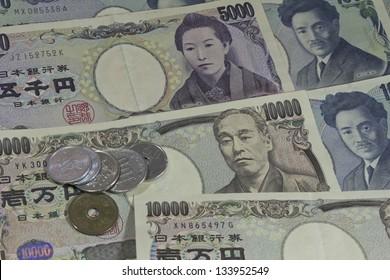 Japan money yens