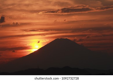 japan Mt.Fuji silhouette