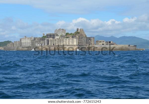 Japan Nagasaki Hashima Island Gunkanjima Island
