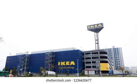 Japan OSAKA - October 28, 2017 IKEA Store. IKEA is the world largest Swedish Furniture retailer and seller.  IKEA  store in Osaka, Japan. The largest furniture store for home decoration and