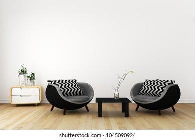 Japan room interior - Japanese style. 3D rendering