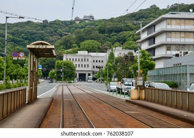 Japan Shikoku Ehime Matsuyama city landscape