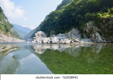 Japan Shikoku Tokushima Miyoshi city Iya Valley Oboke Koboke sightseeing boat