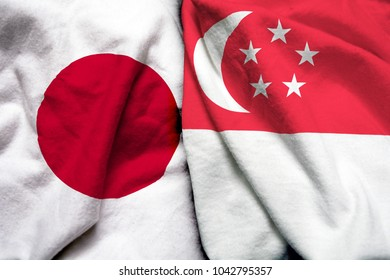 Japan and Singapore flag together