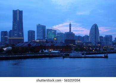 Japan skyline at Yokohama city - Japan