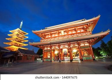 Japan temple , Asakusa Sensoji