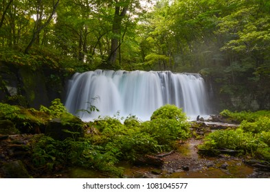 Japan Tohoku Aomori prefecture Oirase mountain stream